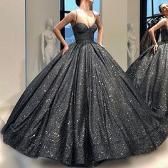 Charming Sequins Spaghetti Straps Ball Gowns Prom Dresses, Pageant Gowns, Sweet 16 Dresses, 350 sold by daisydress. Ball Gowns Prom, Ball Gown Dresses, Pageant Dresses, Homecoming Dresses, Black Quinceanera Dresses, Looks Party, Evening Dresses, Formal Dresses, 15 Dresses
