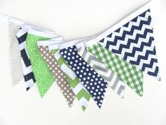 This listing is Spencer, my navy blue, green and soft grey fabric bunting banner. The designer fabric flags feature chevron, plaid and polka dot Fabric Bunting, Pennant Banners, Bunting Banner, Chevron Cakes, Baby Shower Bunting, Blue Green, Navy Blue, Nursery Decor Boy, Family Birthdays
