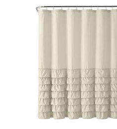 $23.99 GoodGram Taupe Semi Ruffled Gypsy Shabby Chic Shower Curtain |  shabby chic shower curtain ideas | shabby chic shower curtain farmhouse | #shabbychic Shabby Chic Shower Curtain, Farmhouse Shower Curtain, Shower Curtains, Ruffle Curtains, Rustic Curtains, Solid Wood Cabinets, Watercolor Wallpaper, Chic Bathrooms, Taupe