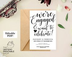 Engagement Invite Templates Best Engagement Invitation Template Editable Text Instant  Engagement .