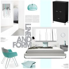 Clean Lines by magdafunk on Polyvore featuring interior, interiors, interior design, дом, home decor, interior decorating, Artifort, South Shore, Kartell and Liquid Cotton