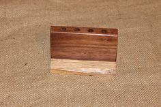 Live Edge Walnut Wood Pencil or Pen Holder, Desk Organizer, C119 by woodhut on Etsy