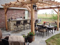 Backyard kitchen idea