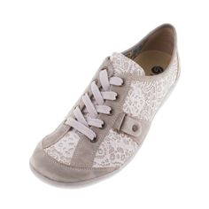 Remonte R1720 60 Womens Ladies Beige Combi Leather Lace Up Shoe - £67.00 - Top quality Remonte Dorndorf footwear from Barnets Shoes