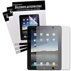 "CrazyOnDigital Screen Protector Film CLEAR (Invisible) OR MATTE (Anti-Glare) for ""The New iPad"" 3rd Gen 2012 Model & Apple iPad 2 / iPad 3 3rd Generation / iPad HD AT Verizon 4G LTE (3-pack)"