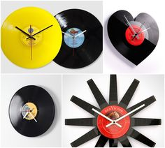Relógio de Parede de Disco de Vinil Vinil Parede, Decoração Com Disco De  Vinil, e03e9ad331