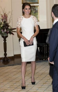 Duchess Catherine / Kate Middleton in Lela Rose