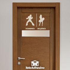Vinilo decorativo Señalización baños Elvis Marylin español Toilet Signage, Toilet Door Sign, Bathroom Humor, Bathroom Signs, Toilet Symbol, Unisex Toilets, Wc Sign, Signages, Wedding Activities