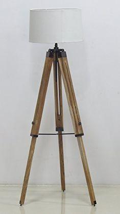 NauticalMart Lamp Classical Design With Tripod Wooden Base Vintage Floor Lamp Vintage Floor, Tripod Floor Lamps, Tripod Lamp, Floor Lamp, Lamp, Target Floor Lamps, Lamps Living Room, Ikea Lamp, Vintage Floor Lamp
