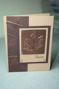 Thanks - Autumn Leaves (Splitcoaster Stampers) - (Pin#1: Faux Metal. Pin+: Fall...)