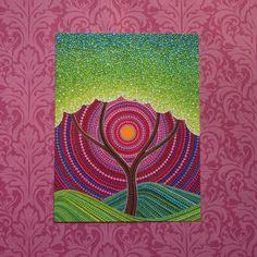 Árbol de paz arte postal por Elspeth McLean por ElspethMcLean
