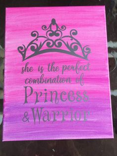 A personal favorite from my Etsy shop https://www.etsy.com/listing/502171724/princess-warrior-canvas-11x14