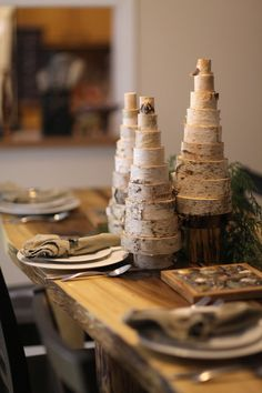 Rustic Christmas decor: Birch Christmas Tree Christmas  Would look nice on the mantle