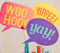 disney photo booth props | photo booth speech bubble props #DisneySide