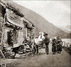 Norway, c. 1870 - Opheims Vandet near Vos, Norway - Photographer: Knud Knudsen (1832-1915)