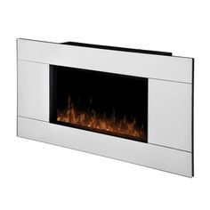 @Overstock.com - Dimplex Stainless Steel Electric Flame Fireplace - From the unique mirror front to the stainless steel accent, this wall-mount provides contemporary appeal. The realistic flame affect completes the overall simplicity of this stunning design.     http://www.overstock.com/Home-Garden/Dimplex-Stainless-Steel-Electric-Flame-Fireplace/8602722/product.html?CID=214117  $287.99