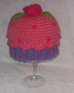 Adorable crochet cupcake hat