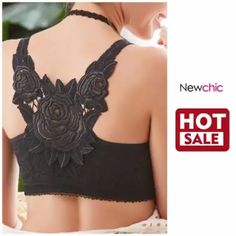 Sexy Plus Size Wireless Rose Embroidery Back Front Closure Lace Thin Gather Comfy Bras Lingerie Sleepwear, Lingerie Set, Latest Fashion Trends, New Fashion, Fashion Vintage, New Chic Bras, Ropa Interior Calvin, Cute Underwear, Modelos Plus Size