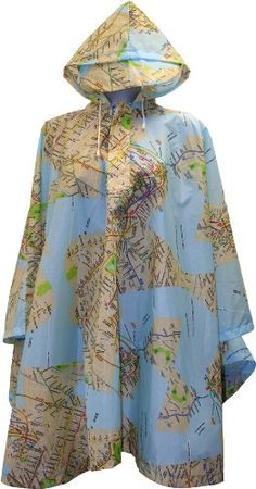 Metropolitan Transportation Authority NY subway map design -Hooded NYC poncho has a pullover opening with deep snap front and hood with a bill plus a drawstring...