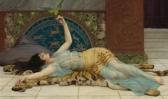 Cave to Canvas, John William Godward, Dolce Far Niente, 1897