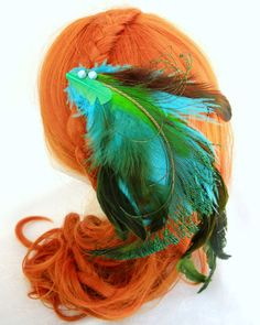 Feather Hair Fascinator by RuthNoreDesigns  $24.00