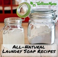 All Natural Laundry Soap Recipes - two ways