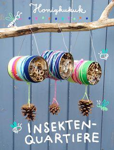 Insektenquartiere aus Blechdosen