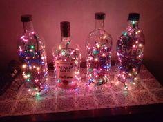 Man Cave - Absolute Vodka, Bacardi Gold & Svedka Bottle Liqour Lamps - 1.75 Liters Each