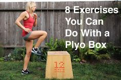 You don't need much equipment at all to stay in shape. Here are 8 exercises you can do using nothing but a plyo box. Box Jump Workout, Polymetric Workout, Workout Ideas, Bootcamp Ideas, Step Workout, Fitness Tips, Fitness Motivation, Group Fitness, Proper Running Technique