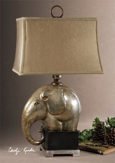 Buy the Uttermost Antique Champagne / Crackled Porcelain / Aged Black Direct. Shop for the Uttermost Antique Champagne / Crackled Porcelain / Aged Black Elephant Lamp from the Abayomi Collection and save. Elephant Nursery Lamp, Elephant Table, Elephant Gifts, Rustic Mirrors, Rustic Wall Decor, Art Nouveau, Uttermost Mirrors, Uttermost Lighting, Barn Wood Picture Frames