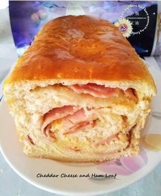 This Joy Factory: Ham and Cheese Loaf 火腿奶酪面包卷 is a better for our Breakfast made with wholesome ingredients! Baker Recipes, Loaf Recipes, Cooking Recipes, Bread Bun, Bread Cake, Brioche Bread, Sourdough Bread, Soft Bread Recipe, Ham And Cheese Bread Recipe