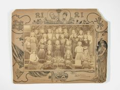 Teacher and pupils of Everington Street School -  Group 10. Taken in 1902 to commemorate the ...