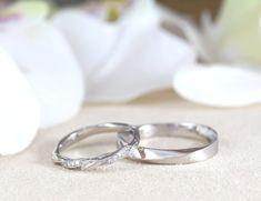 Green Wedding, Boho Wedding, Nature Inspired Wedding, Wedding Band Sets, Woodland Wedding, Boho Bride, Bridal Sets, Bridal Rings, Silver Rings