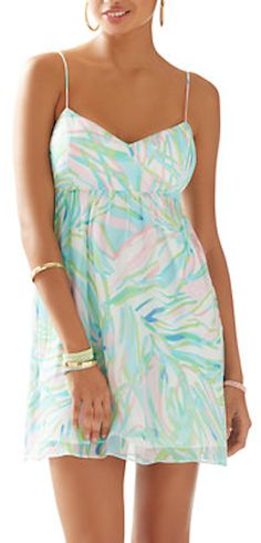 pastel strappy resort dress