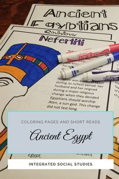 Students will enjoy coloring these illustrations as they learn about Ancient Egypt. Incorporated short reads for every picture ensures students are exposed to the most important visuals of Ancient Egypt. Use as an introduction or simply as an addition to the unit. #tptpins #teacherspayteachers #ancientstudies #worldhistory #historyresources