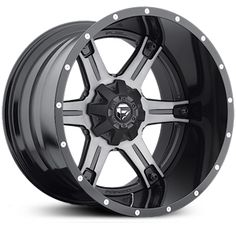 Fuel D256 Driller Two Piece  Wheels Black Milled