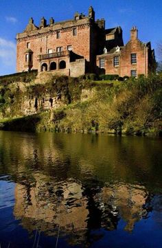 Sorn Castle, Sorn, Mauchline, Scotland. Built as a Keep around 1380/1409, then owned by the Keith's of Galston. In 1620 the 3rd Earl of Winton sold Sorn Castle & the estate to Sir John Campbell of Lawers. In 1700 Sir Hugh Campbell, 3rd Earl of Loudoun married Margaret Dalrymple, who had spent considerable time at the Courts of Queen Anne and George I. In 1907 the Castle & estate was purchased by Thomas W. McIntyre.