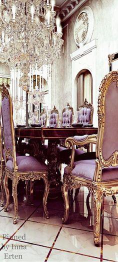 via Inna Erten Elegant Home Decor, Elegant Dining, Elegant Homes, Luxury Interior, Interior Design, Mansion Interior, Meditation, Mansions Homes, Luxury Mansions