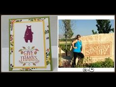 Thankful Forest Friends - YouTube Friends Gif, Friends Video, Friends Youtube, Forest Friends, Stampin Up, Thankful, Bear, Crafty, Learning