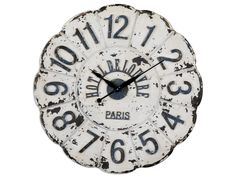 Accessories Uttermost De Louvre White Wall Clock 06651 - Woodley's Furniture - Colorado Springs, Fort Collins, Longmont, Lakewood, Centennia...