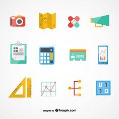 Vectores gratis // Freepik business plan icons set