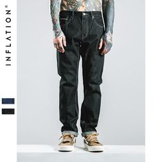 Men's Black Straight Jeans Denim New Fashion Homme Jeans Pant Men Biker Denim Skinny Jeans Men