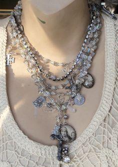 Dancing in the Moonlight AB Crystal Rosaries Vintage by angels9, $108.00
