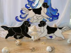 Love these Stain Glass Newfies!