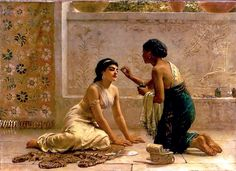 Edwin Long An Ancient Custom Oil Painting Reproductions for sale Ancient Mesopotamia, Ancient Egypt, Ancient Persia, Ancient Beauty, Oil Painting Reproductions, Egyptian Art, Egyptian Costume, Beauty Secrets, Art History