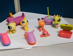 Littlest Pet Shop Rare Sea Creature, Snail& Crab-Lot With Accessories  LPS Toys  #Hasbro