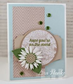 card flower MFT sunflower Die-namics circle label good health Hope you are on the mend Get better wishes - My Little Creative Escape: MFTWSC171-Hope You're on the Mend