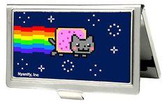 Nyan Cat Youtube Video Meme Purple Pop Tart Small Business Card Holder