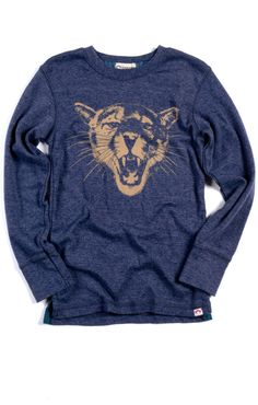 Appaman Big Cat Long Sleeve Tee (Galaxy Heather)