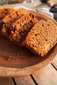 Recept voor vegan pompoencake, gemaakt met spelt.